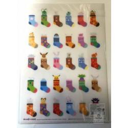 Pokemon Center 2014 Pokemikke Campaign #1 Eevee Sylveon Vulpix Mew & Friends A4 Size Clear File Folder (White Version)