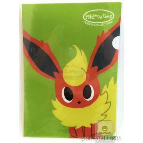 Pokemon Center 2015 Pokemon Time Campaign #8 Flareon A4 Size Clear File Folder