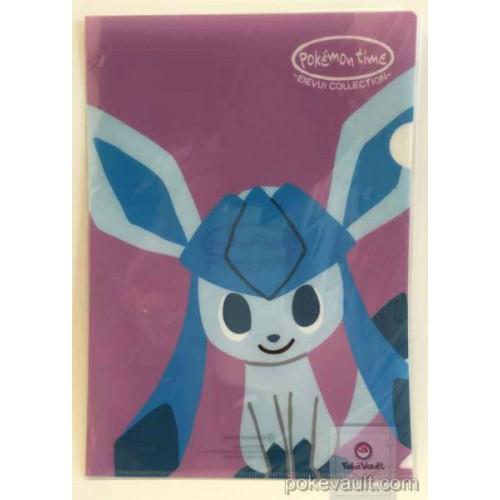 Pokemon Center 2015 Pokemon Time Campaign #8 Glaceon A4 Size Clear File Folder