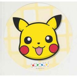 Pokemon Center 2015 Battle Trozei Poketoru Pikachu Authentic Large Size Round Postcard Lottery Prize NOT SOLD IN STORES