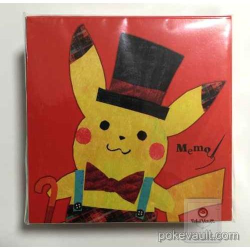 Pokemon Center 2015 Chiku-Chiku Sewing Campaign Pikachu Vulpix Phanpy & Friends Memo Pad