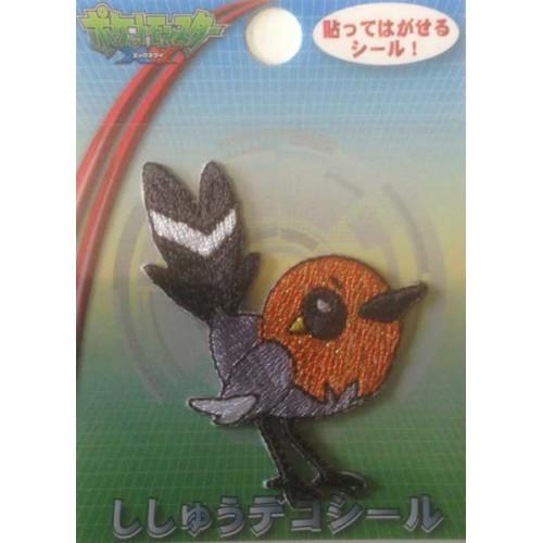 Pokemon Center 2014 Fletchling Embroidered Sticker