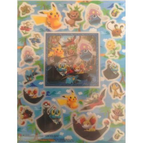 Pokemon Center Tokyo Bay 2013 Grand Opening Inkay Chespin Fennekin Clauncher Dedenne & Friends Sticker Sheet