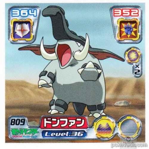 Pokemon Center 2005 Retsuden Series #9 Donphan Sticker