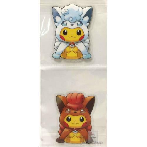 Pokemon Center Sapporo 2017 Renewal Opening Campaign #2 Poncho Pikachu Vulpix Alolan Vulpix Set Of 2 Large Stickers