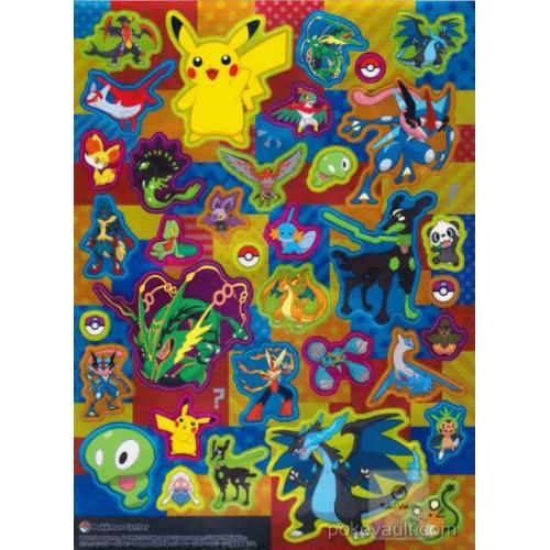 Pokemon Center 2015 Ash's Greninja Zygarde Mega Rayquaza Latias Latios & Friends Sticker Sheet