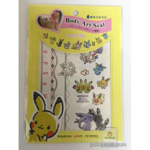 Pokemon Center 2016 Pokemon Love Its Demo Campaign Pikachu Eevee Espeon Flareon Glaceon Jolteon Leafeon Sylveon Umbreon Vaporeon Body Art Stickers (Version #1)