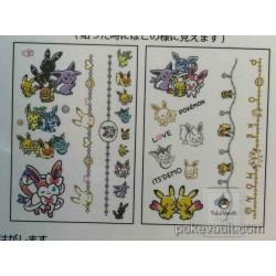 Pokemon Center 2016 Pokemon Love Its Demo Campaign Pikachu Eevee Espeon Flareon Glaceon Jolteon Leafeon Sylveon Umbreon Vaporeon Body Art Stickers (Version #2)
