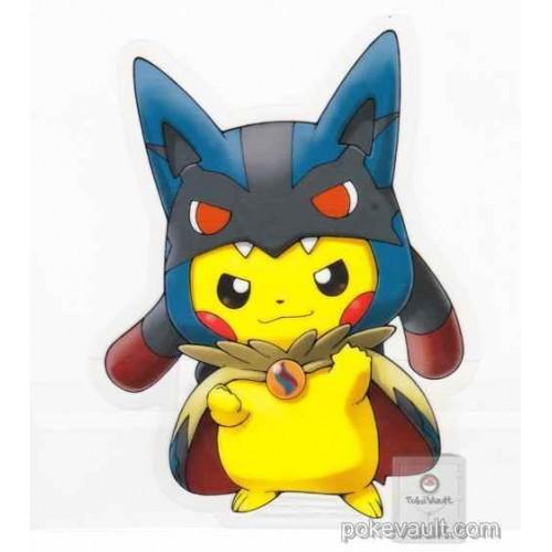 Pokemon Center 2015 Poncho Pikachu Campaign #1 Mega Lucario Large Sticker