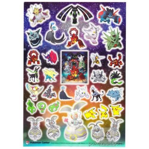 Pokemon Center 2016 Volcanion Magearna Shiny Mega Gardevoir Gengar & Friends Sticker Sheet