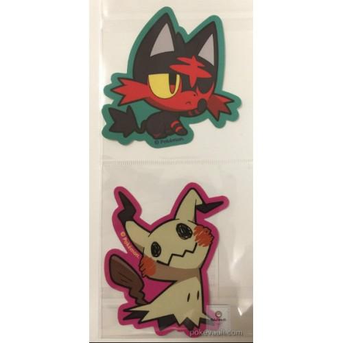 Pokemon Center 2017 Pokemon Pop Campaign Litten Mimikyu Set Of 2 Large Stickers