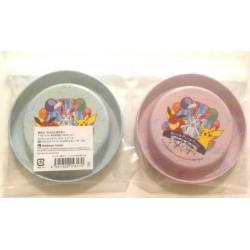 Pokemon Center 2013 Sylveon Eevee Espeon Flareon Glaceon Jolteon Leafeon Umbreon Vaporeon Pikachu Set of 2 Plastic Drink Coasters