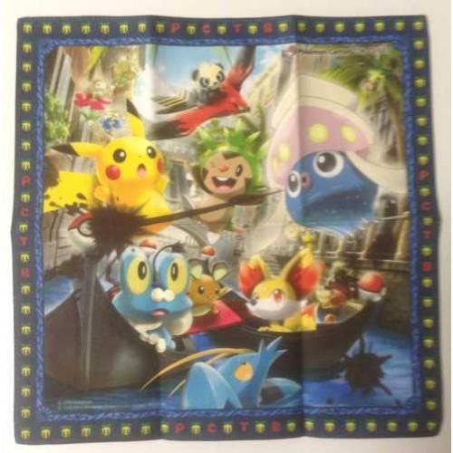 Pokemon Center Tokyo Bay 2013 Grand Opening Inkay Fennekin Chespin Froakie Dedenne & Friends Cloth Handkerchief