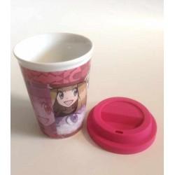 Pokemon Center 2014 Pokemon & Trainers Campaign Serena Fennekin Ceramic Cup With Silicone Cover