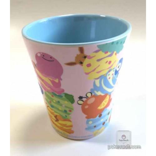 Pokemon Center 2015 Pokemikke Campaign #2 Eevee Charmander Bulbasaur Ditto & Friends Plastic Cup (Pink Version)