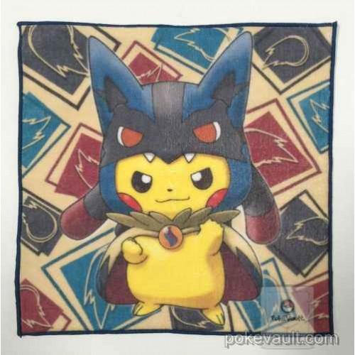 Pokemon Center 2015 Poncho Pikachu Campaign #1 Mega Lucario Mini Hand Towel