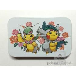 Pokemon Center 2016 Poncho Pikachu Campaign #2 Mega Gardevoir Gallade Candy Collector Tin