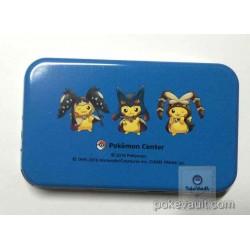 Pokemon Center 2016 Poncho Pikachu Campaign #2 Mega Mawile Lucario Lopunny Candy Collector Tin