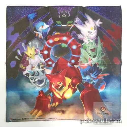Pokemon Center 2016 Volcanion Shiny Mega Gardevoir Tyranitar Alakazam Swampert & Friends Cloth Handkerchief