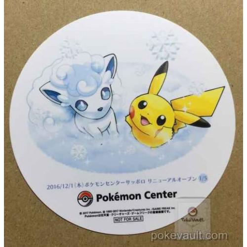 Pokemon Center Sapporo Snow Festival Pikachu Alola Vulpix Coaster #4