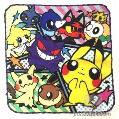 Pokemon Center 2017 Pokemon Pop Campaign Pikachu Mimikyu Eevee Gengar & Friends Mini Hand Towel