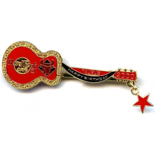 Hard Rock Cafe Japan 2000 Taurus Birthday Guitar Pin