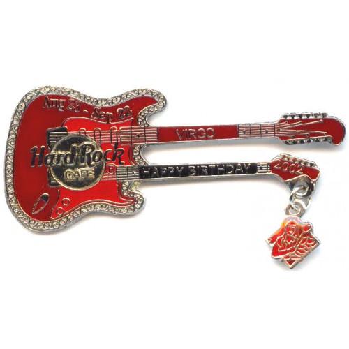 Hard Rock Cafe Japan 2002 Virgo Birthday Guitar Pin