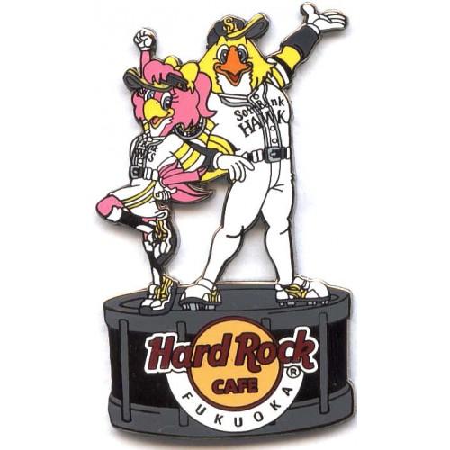 Hard Rock Cafe Fukuoka 2009 Softbank Hawks #5 Pin
