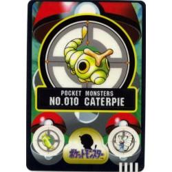 Pokemon 1997 Bandai Caterpie Promo Sticker Card