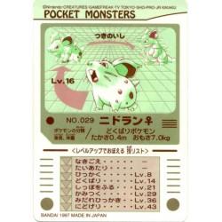 Pokemon 1997 Bandai Nidoran (Female) Promo Sticker Card