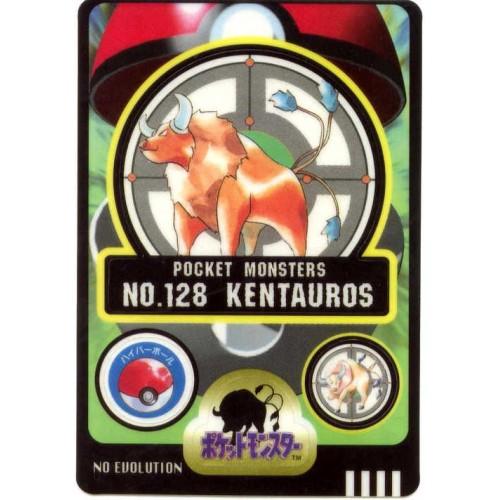 Pokemon 1997 Bandai Tauros Promo Sticker Card