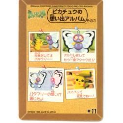 Pokemon 1998 Bandai Pikachu Butterfree Promo Sticker Card