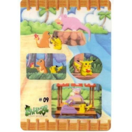 Pokemon 1998 Bandai Pikachu Charmander Ekans Slowpoke Promo Sticker Card