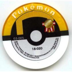 Pokemon 2011 Battrio Mesprit Hyper Level Sparkling Foil Coin #18-020