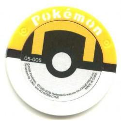 Pokemon 2008 Battrio Regirock Hyper Level Sparkling Foil Coin #05-005