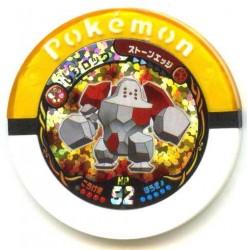 Pokemon 2011 Battrio Regirock Hyper Level Sparkling Foil Coin #18-016