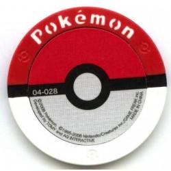 Pokemon 2008 Battrio Turtwig Normal Level Coin #04-028