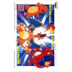 Pokemon 1998 Banpresto Character Mail Collection Charizard Charmander Charmeleon Postcard