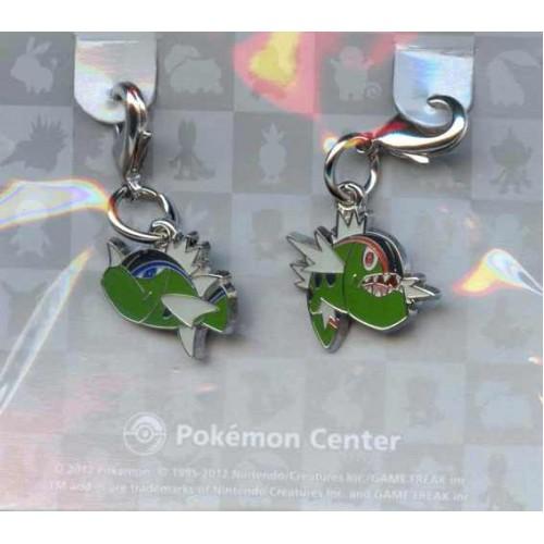 Pokemon Center 2012 Basculin Set of 2 Charms
