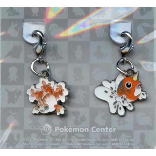 Pokemon Center 2011 Seaking Goldeen Set of 2 Charms