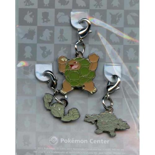 Pokemon Center 2011 Golem Geodude Graveler Set of 3 Charms