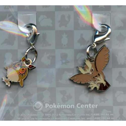 Pokemon Center 2012 Noctowl Hoothoot Set of 2 Charms