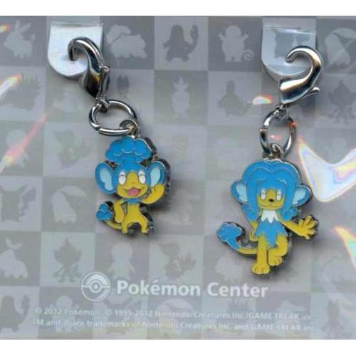 Pokemon Center 2012 Panpour Simipour Set of 2 Charms
