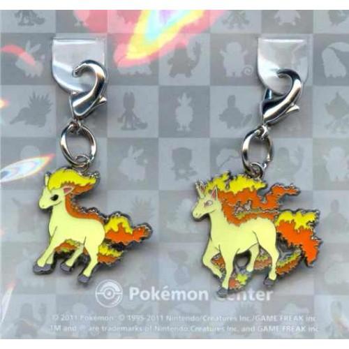 Pokemon Center 2011 Rapidash Ponyta Set of 2 Charms