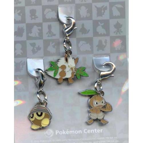 Pokemon Center 2012 Shiftry Nuzleaf Seedot Set of 3 Charms