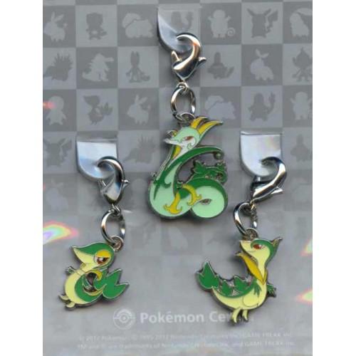 Pokemon Center 2012 Serperior Servine Snivy Set of 3 Charms