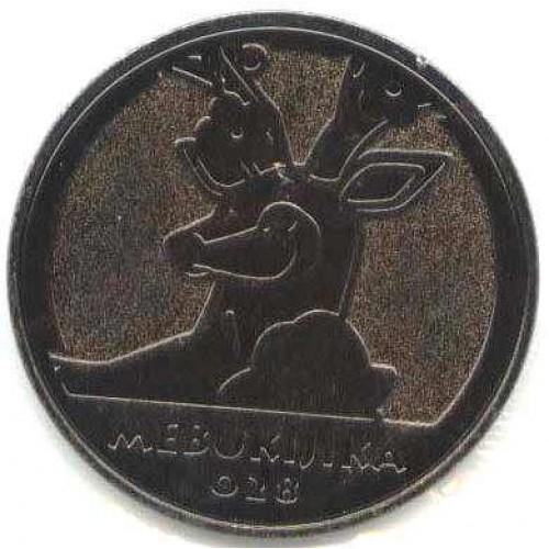 Pokemon 2011 Best Wishes Medal Collection #2 Sawsbuck Mebukijika Metal Coin #028