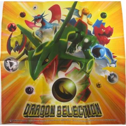 Pokemon Center 2012 Dragon Selection Rayquaza Haxorus Salamence Druddigon Dragonite Cloth Handkerchief