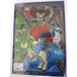 Pokemon Center 2012 Keldeo Cobalion Terrakion Virizion A4 Size Clear File Folder #1