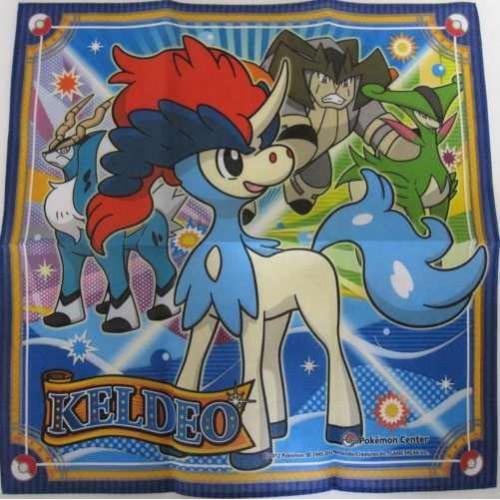 Pokemon Center 2012 Keldeo Cobalion Terrakion Virizion Cloth Handkerchief